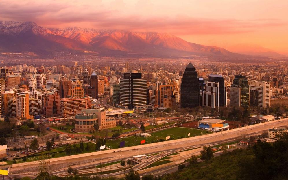Chile - Santiago - 1560 - Santiago Panoramic Downtown Landscape