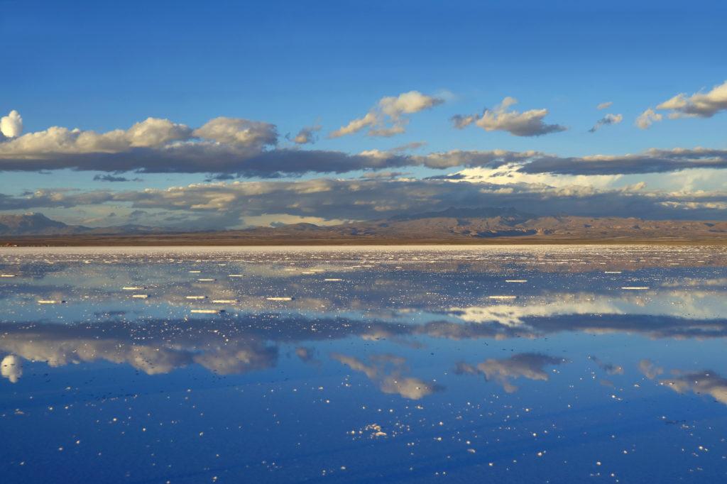 Bolivia - 1561 - Adventure Program - Salar de Uyuni Mirror Effect of Uyuni Salt Flats