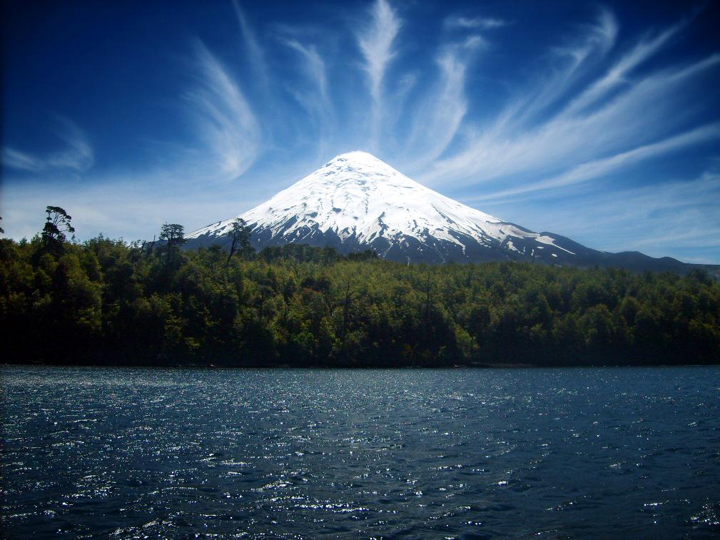 Chile - 1560 - Pucon - Volcán Villarrica Mountain Scenic Landscape