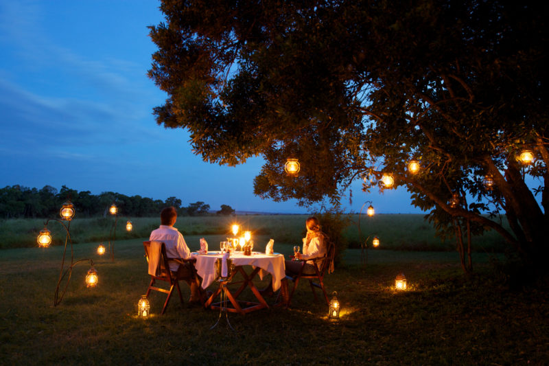 Kenya - 12890 - Elephant Pepper Camp - Romantic Dinner under candle light