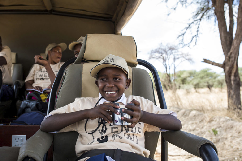 Tanzania - 17467 - Tarangire National Park - Olivers Camp - Positive Impact local kids on safari learning about conservation