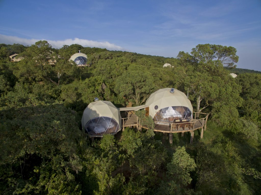 Tanzania - 17467 - The Highlands Camp - Arial View - Family Dome