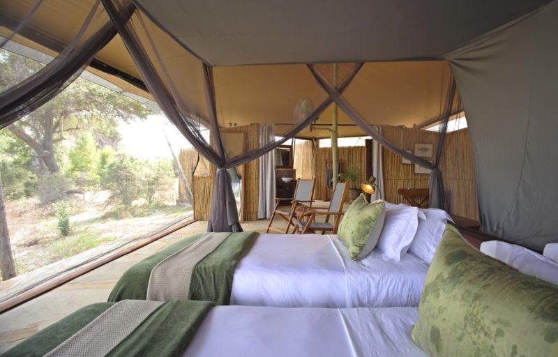 Tanzania - 17467 - asilia roho twin tent - open view