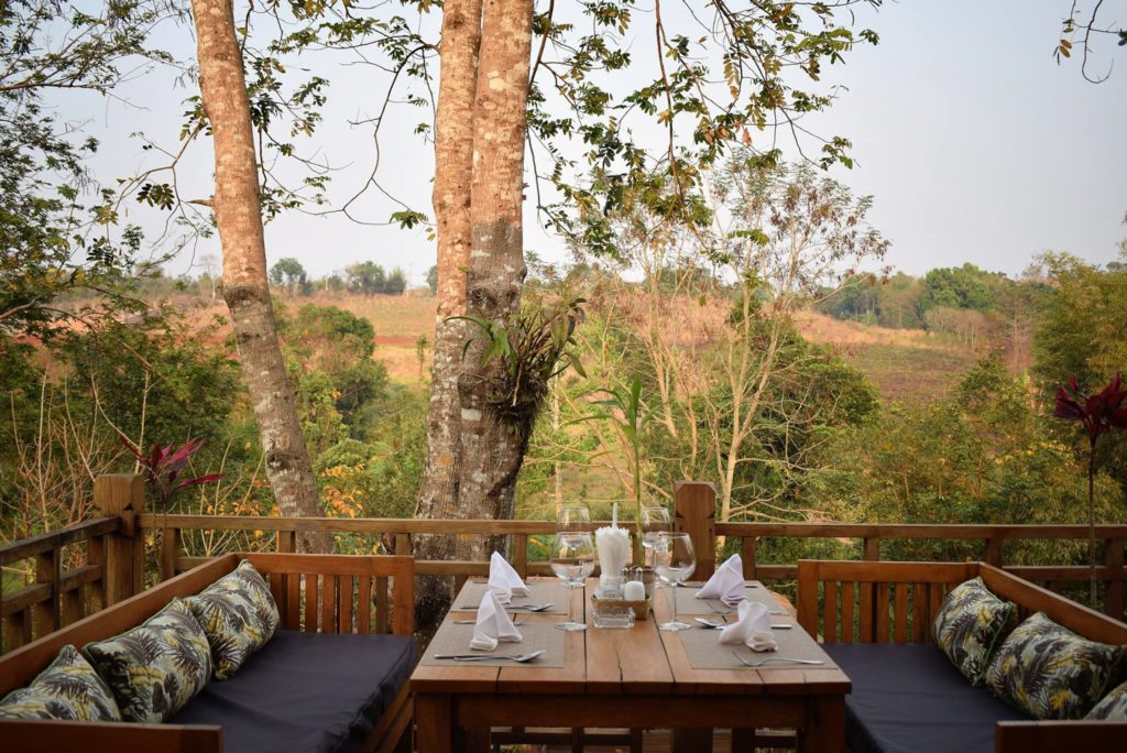 Cambodia - Sen Monorom - 18260 - Dining with a view
