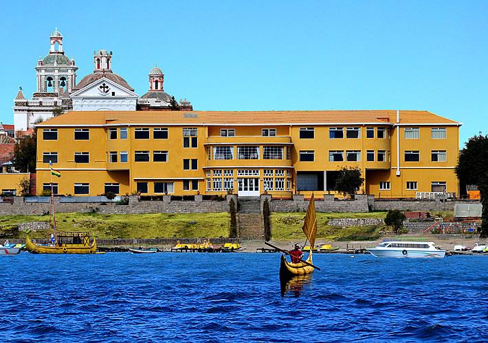 Bolivia - Copacabana - 1561 - River view of Hotel