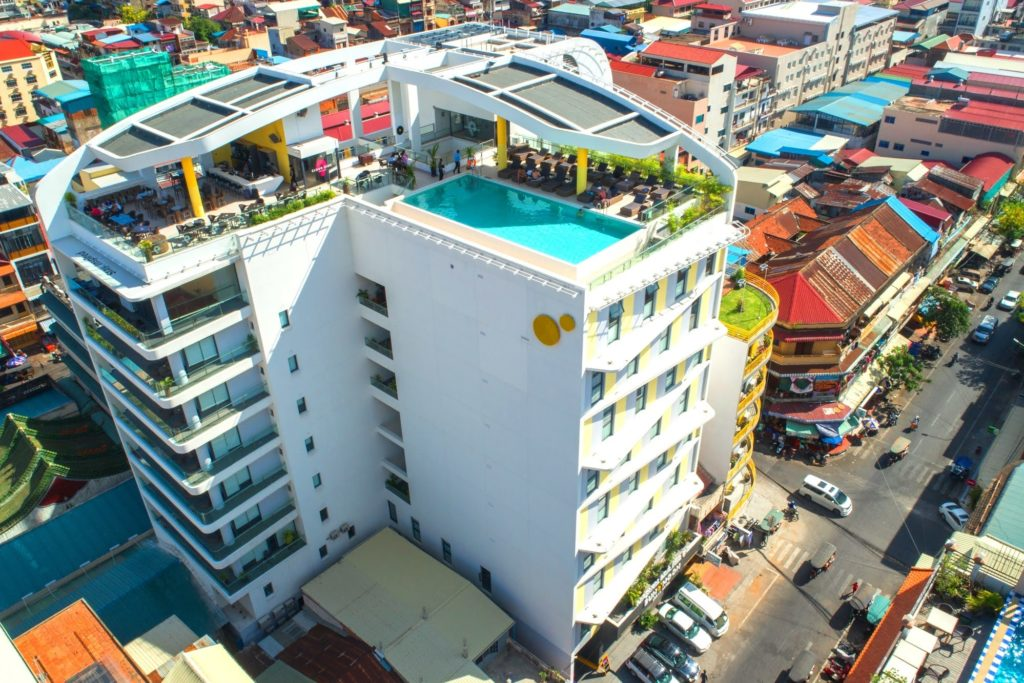 Cambodia - Phnom Penh - 18260 - Drone shot of Hotel