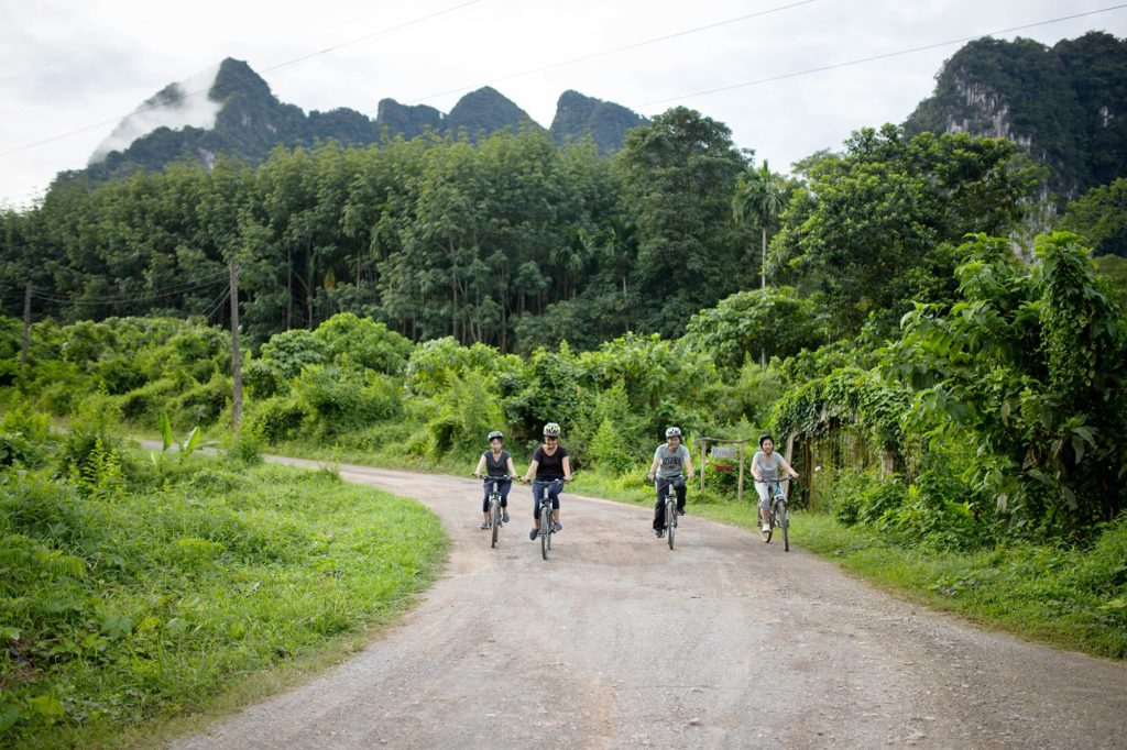 Thailand - Khao Sok - 18264 - Cycling along a Road