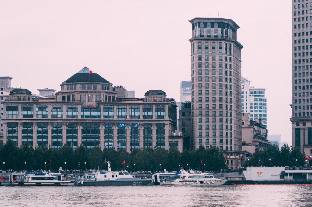 China - Shanghai - 18262 - Riverside shot of Hotel