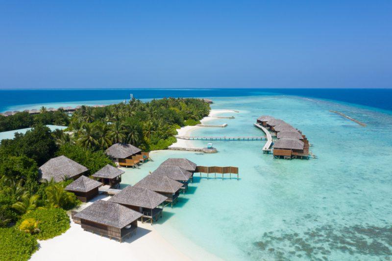 Maldives - North Ari Atoll - 1567 - Veligandu Island Resort - Villa Wing from above