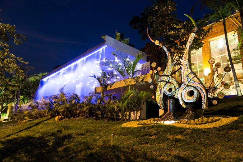 Bolivia - Santa Cruz - 1561 - Camino Real Hotel at Night