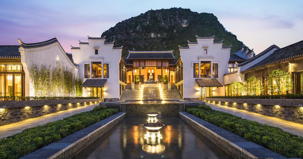 China - Guilin - 18262 - Banyan Tree Resort Yangshuo main entrance