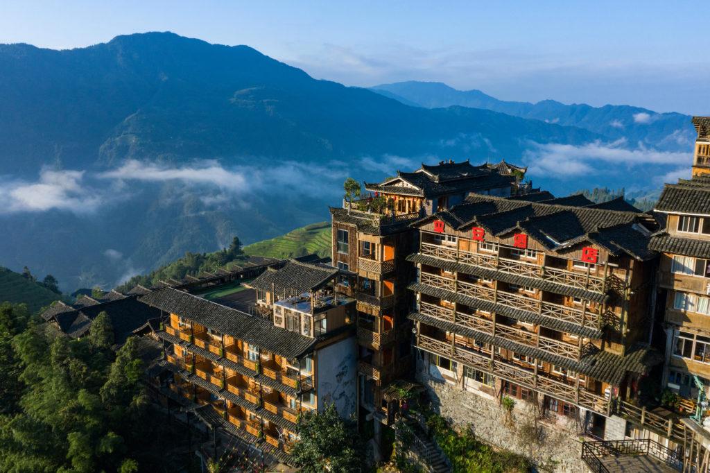 China - Guilin - 18262 - Longji Ping'an Hotel aerial
