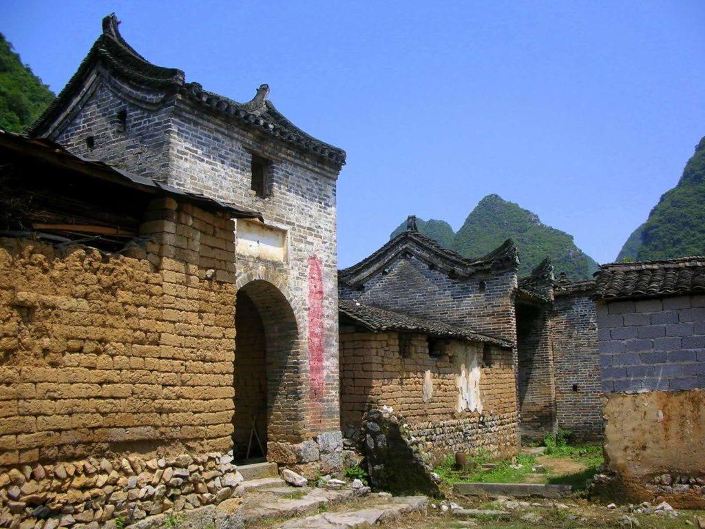 China - Yangshuo - 18262 - village entrance gate