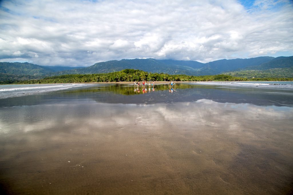 Landscape of Marino Ballena, mountains, forests and blue sky