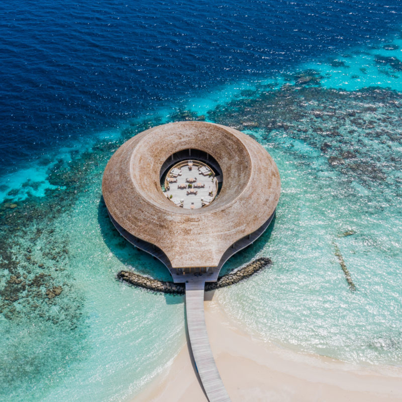 Maldives - Male Atoll - 1567- Kagi Maldives Spa Island - Baani Spa from above from a drone