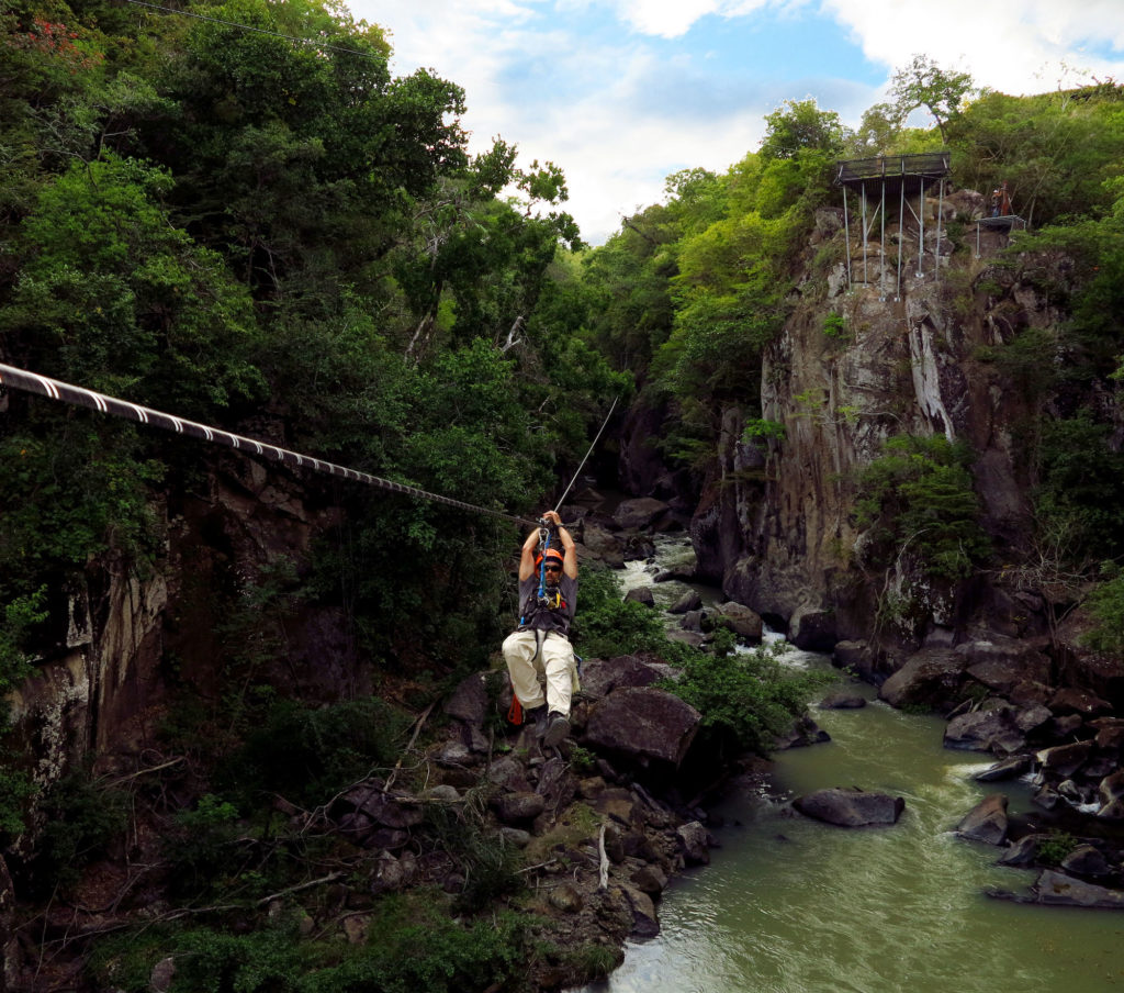 Rio Perdido Zipline through forests and over rivers adventure