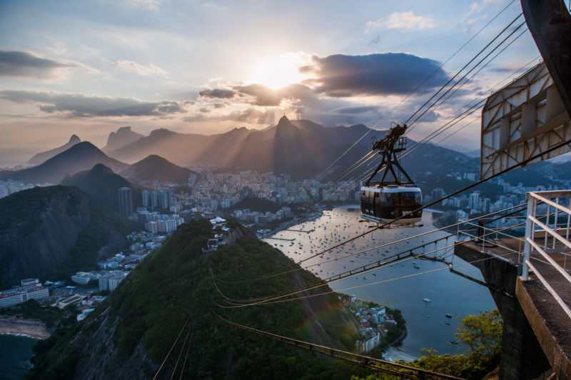 Brazil - 1584 - Exclusive Luxury - Sugarloaf Hike Gondola Cable Car over Sunset