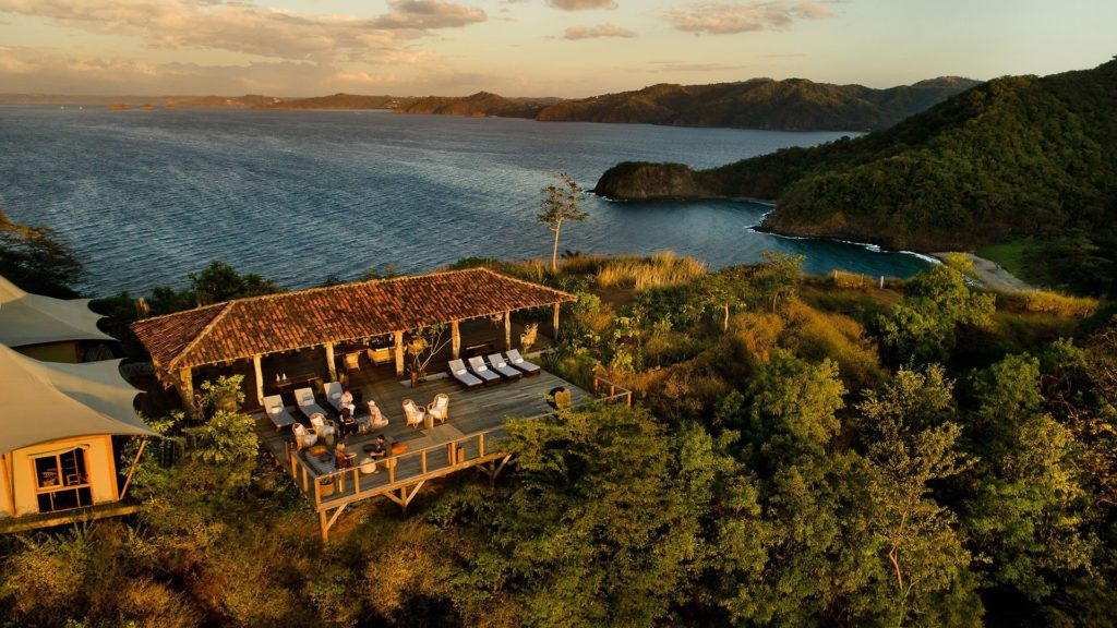 Dining in harmony with nature as the sun sets at Papagayo Gulf