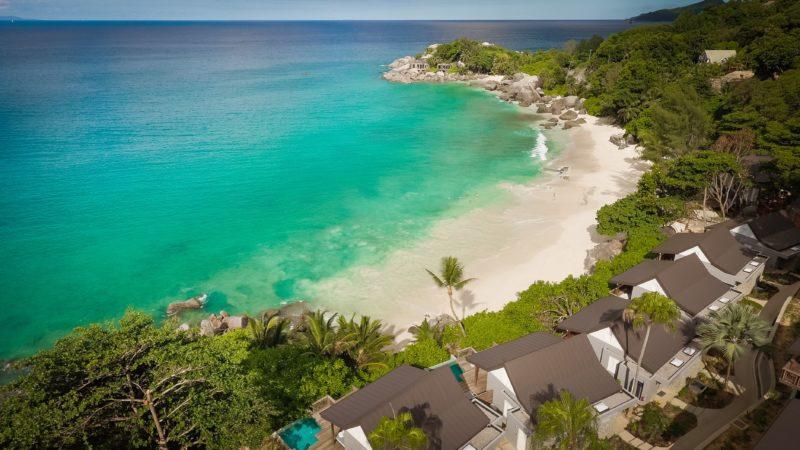 Seychelles - Mahe Island - 1554 - Carana Beach view from above