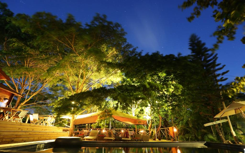 Mauritius - Grand River South East - 3996 - Otentic Eco Tents at night