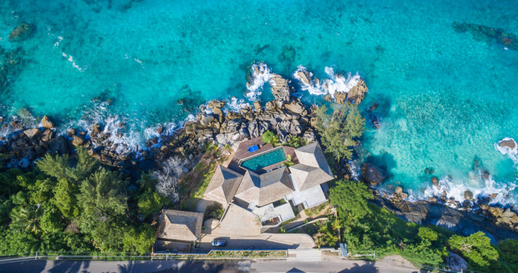 Seychelles - Mahe - 1554 - Villa Sea Monkey view from above