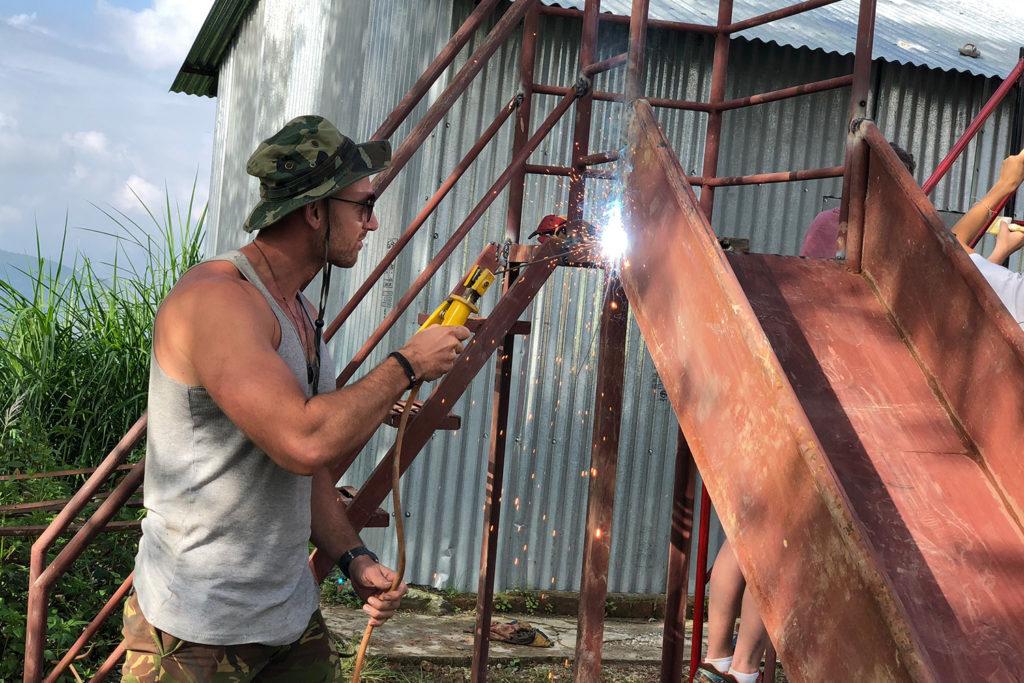 Building School Climbing Frame in Nepal