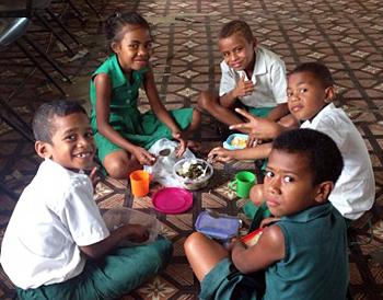 Fijian Boys at School