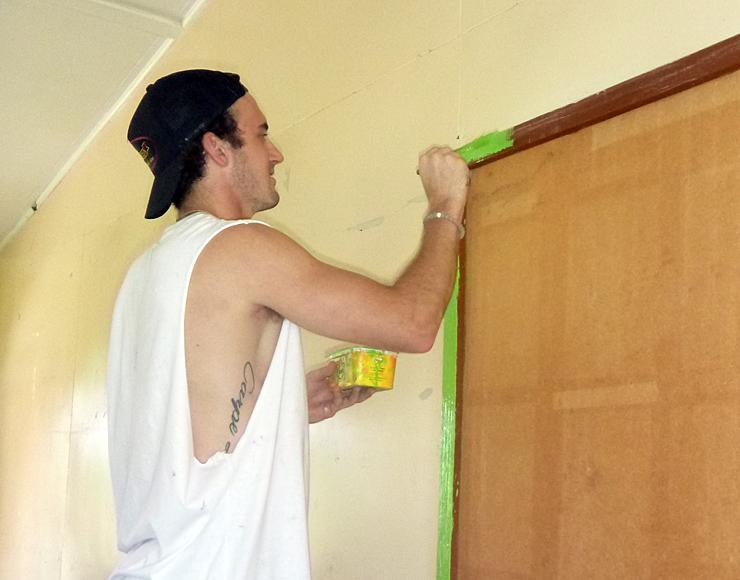 School Painting Project in Fiji