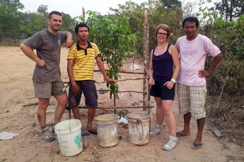 Volunteers on Cambodia Building Project