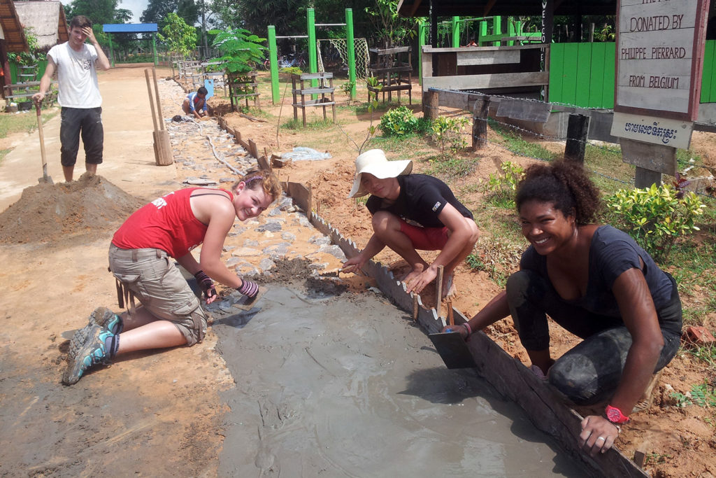 Path construction on Cambodia project