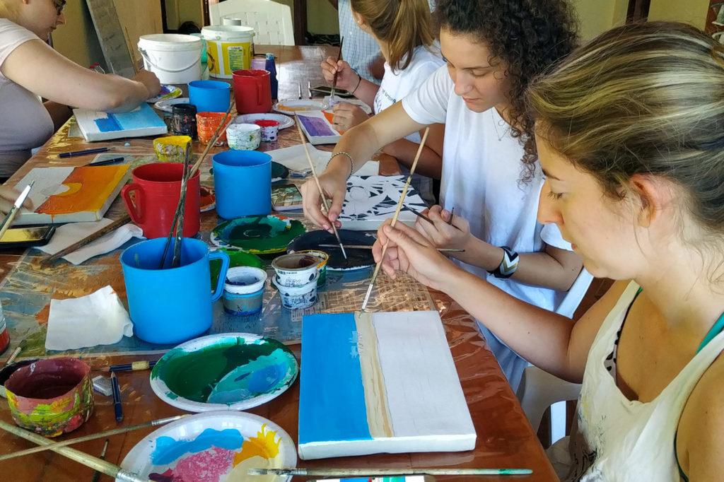 Painting Workshop in Madagascar