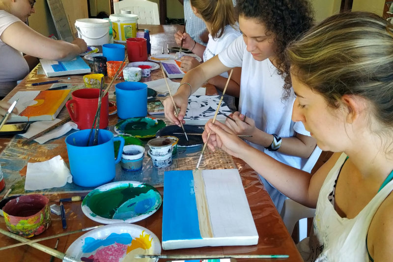 Painting Workshop in Madagascar