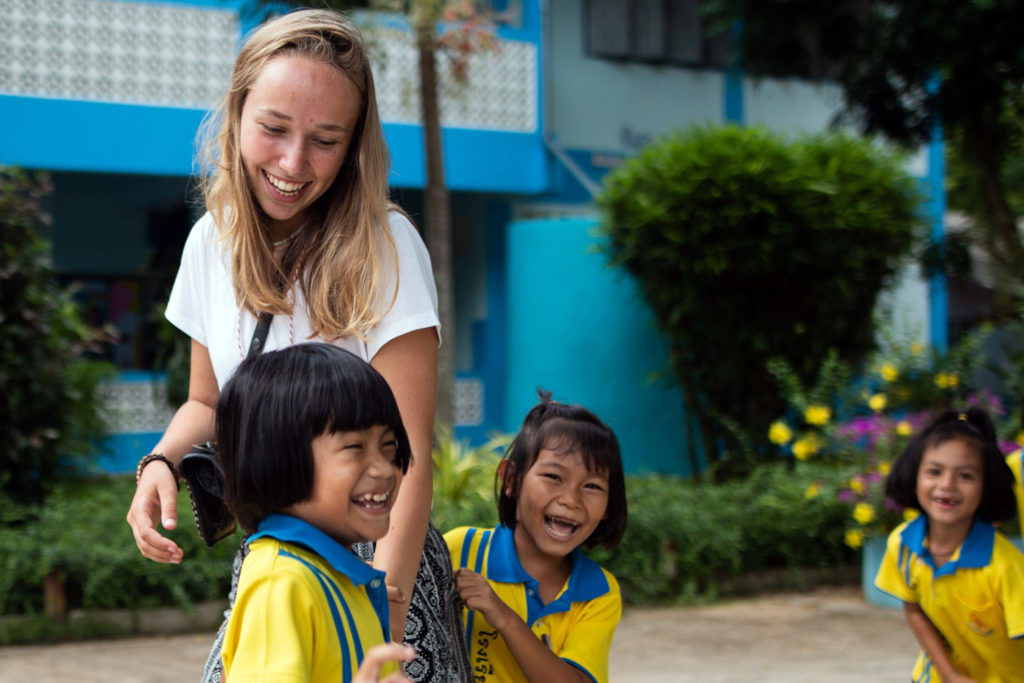 Playtime with kids in Thailand