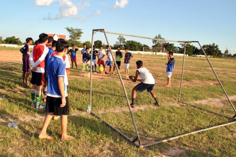 Goal Keeper Training in Cambodia