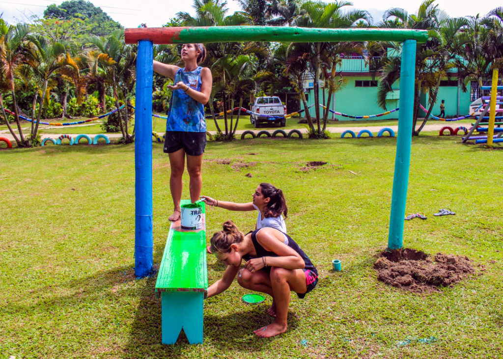 Building Kids Playground in Fiji