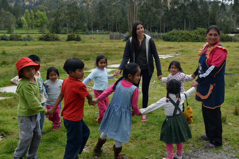 Play with kids on kindergarten project Peru