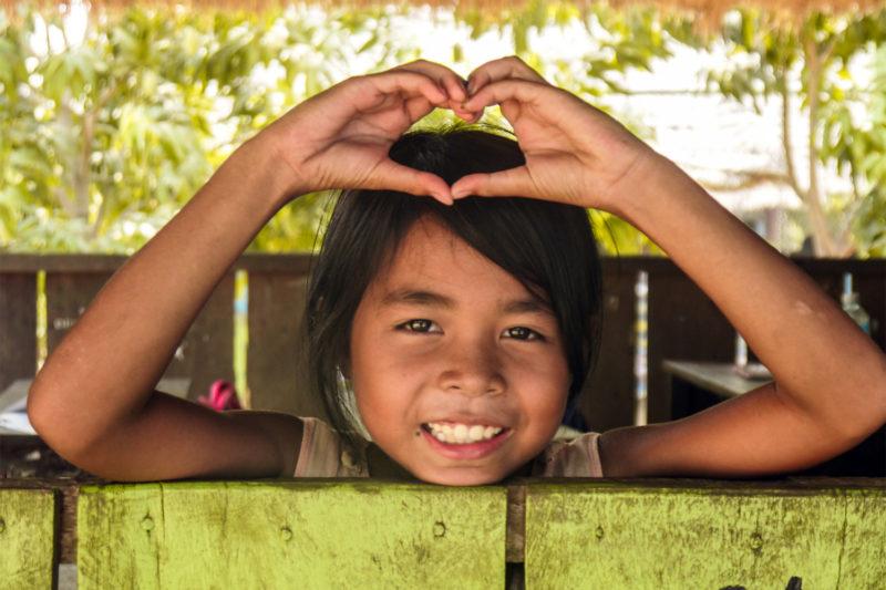 Cambodia Child at Community School