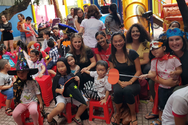 Volunteers and Teachers at Vietnam Child Care Project