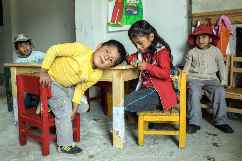 Kindergarten Kids in Peru School