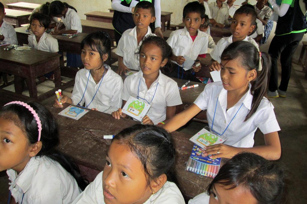 Cambodian School Children in Class