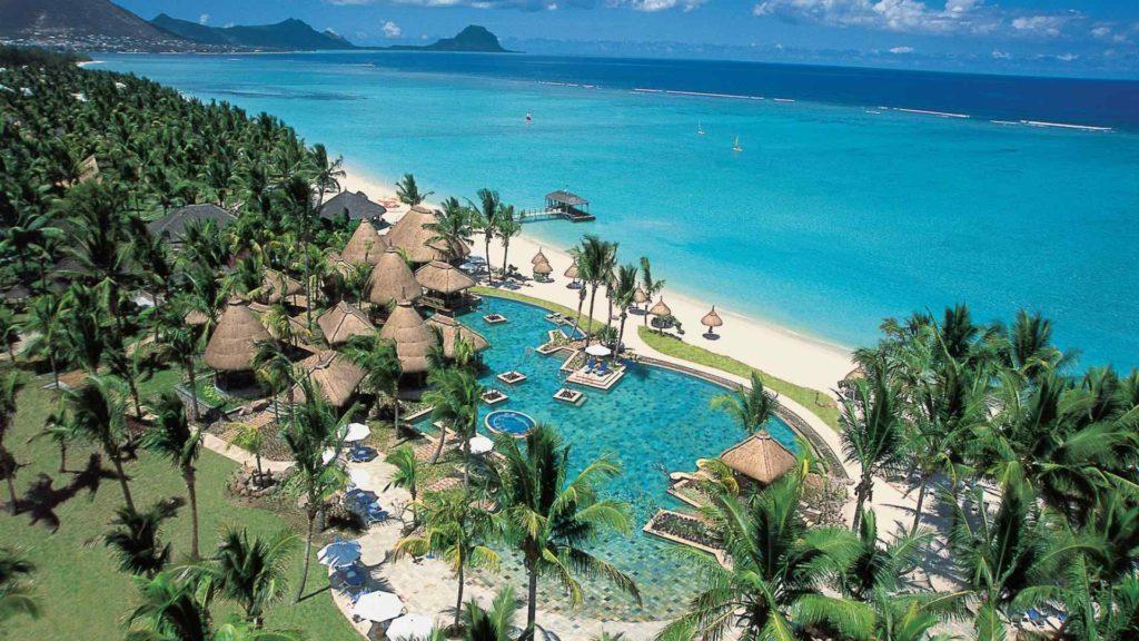 Mauritius - South West Coast - 3996 - La Pirogue aerial view