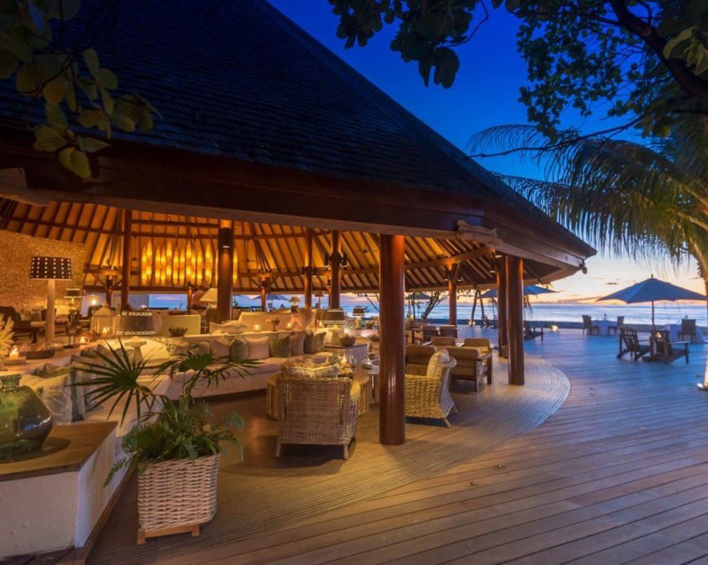 Seychelles - Denis Private Island - 1554 - Denis Island Resort at night