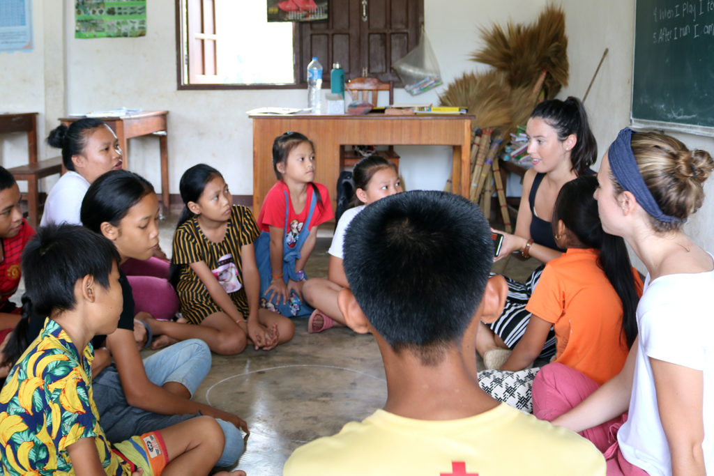 Volunteers on a Teaching Project Laos