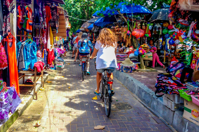 Cycling Through Bali Markets