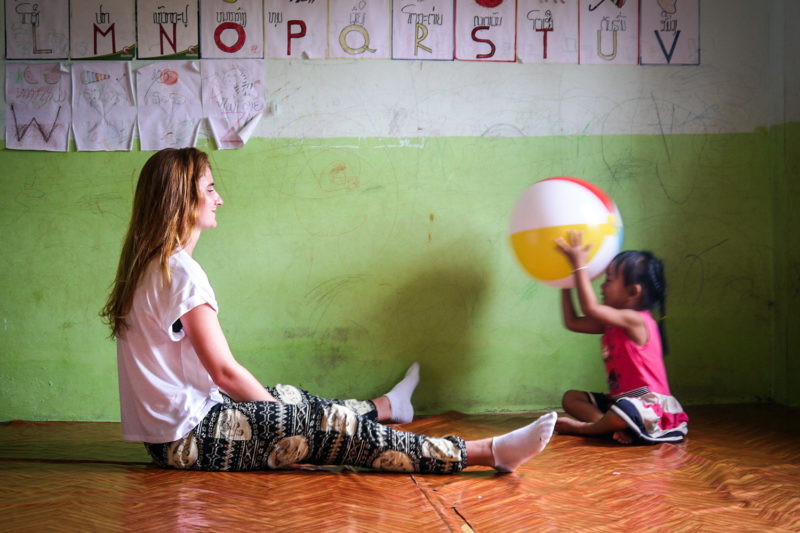 Playing with Children on Laos Project