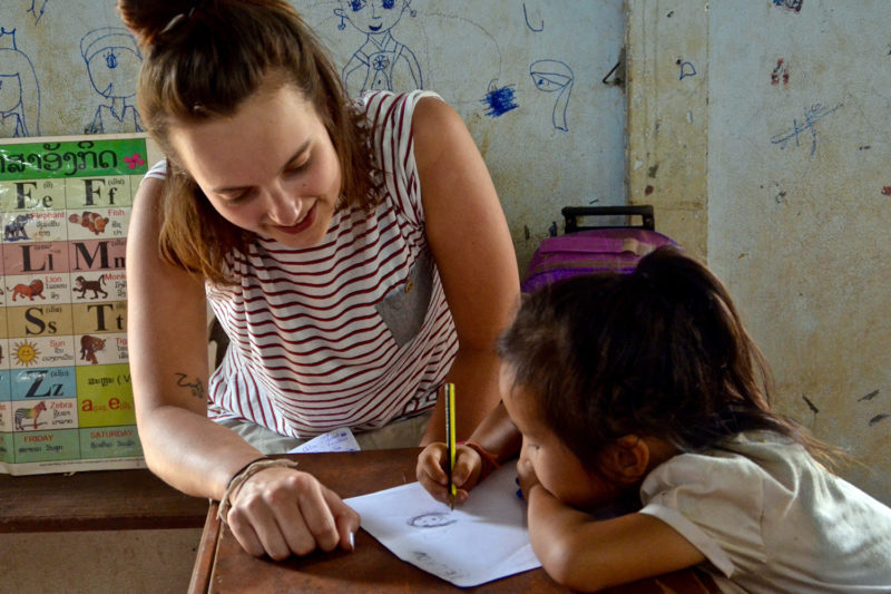 Supporting Kids on Volunteer Teaching Project Abroad