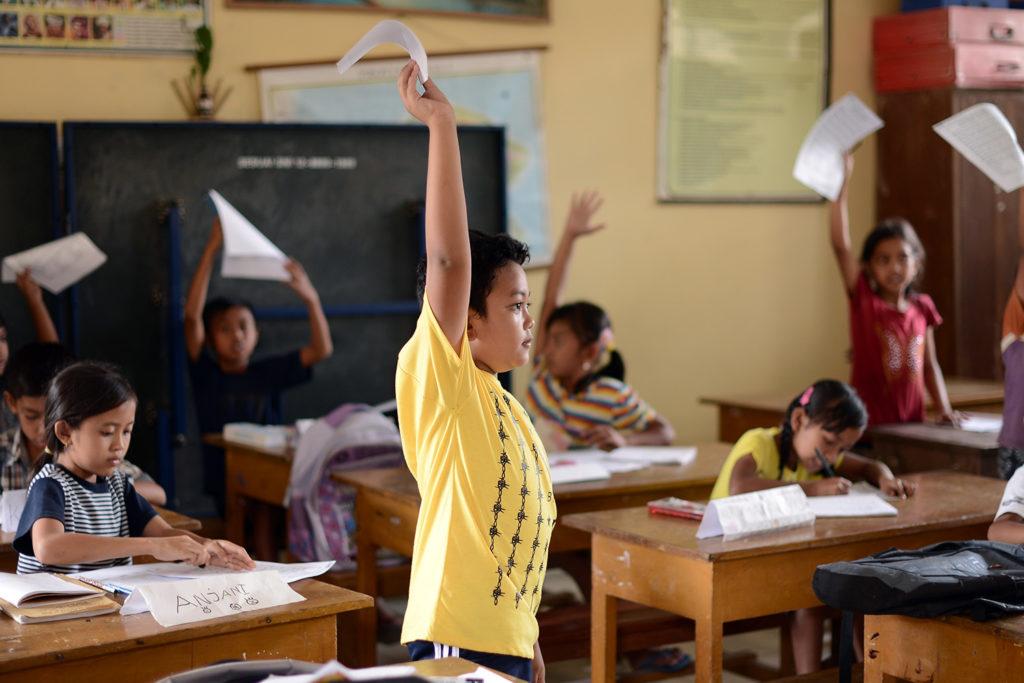 School Children in Bali School