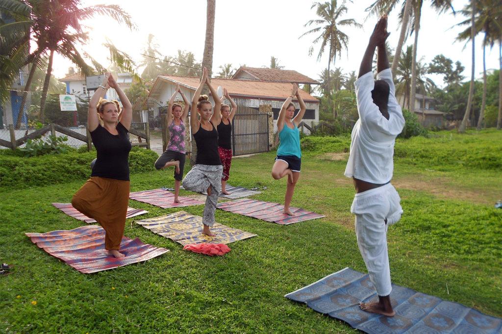 Group Yoga Class in Sri Lanka