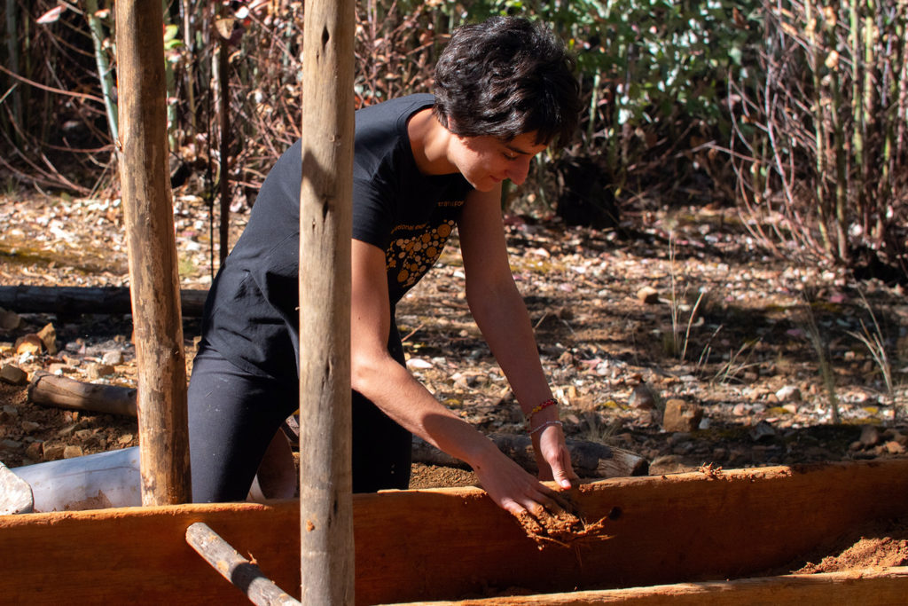 Compacting Mud for Eco Build Peru