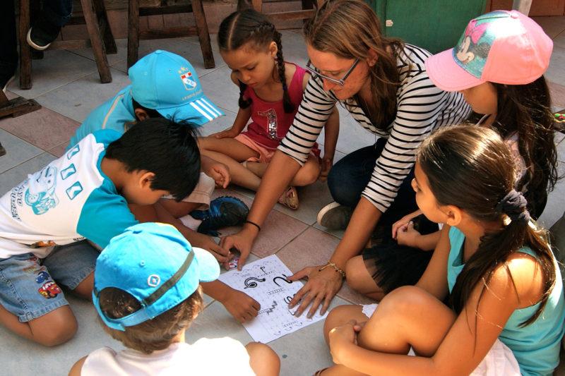 Work with kids in Peru